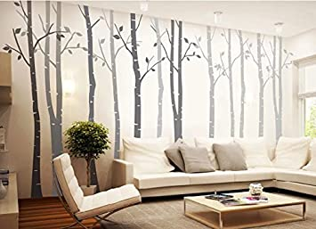 Amazoncom Big Birch Tree Wall Decal Nursery Removable Vinyl - Vinyl wall decals birch tree