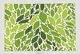 Supersoft Fleece Throw Blanket Fresh Green Leaves Seamless Pattern, Vector