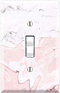 Graphics Wallplates - Pink Marble Textures Waves Background Print - Single Toggle Wall Plate Cover