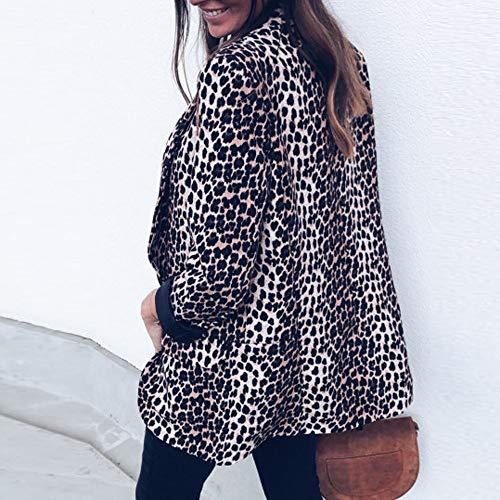 La Chaquetas Sintética Con zarlle Mujer Marrón Otoño Leopardo Capucha Mujer De Chaqueta Vintage Elegante Piel Invierno Abrigo Parka 2018 Moda Y TqWaF1YntF