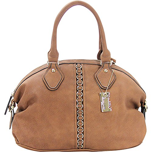 Chasse Wells Montagne Satchel Tote (Brown)