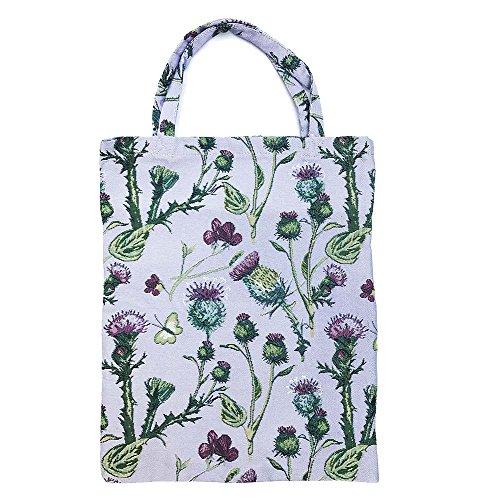 para para mujer Signare en de Cardo tapiz Bolsa compras eco reutilizable bolsa tela dawqXxIZ