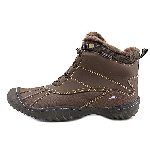 JBU Brown Pullman Weather Womens Cold Ankle Round Boots Toe 7r7UW8