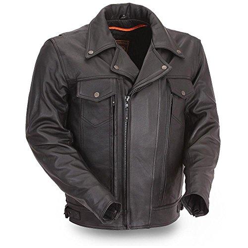 First Manufacturing Men's Utility Cruising Jacket (Black, Large)