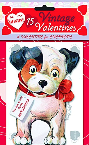 15 Vintage Valentines: A Valentine for Everyone: 15 Die-Cut Cards in Bag with Decorated Envelopes -