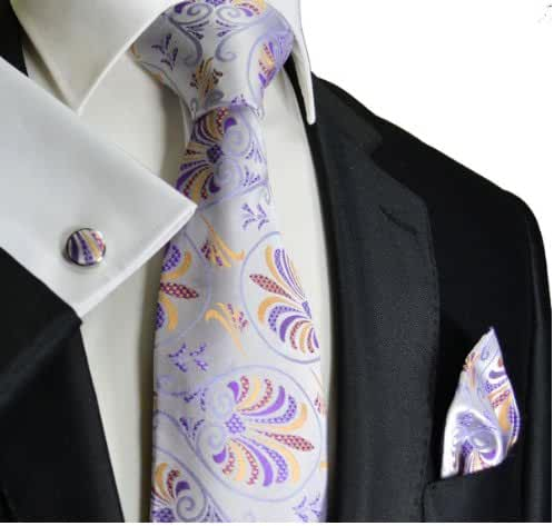 Paul Malone Silk Tie and Accessories . Lavender