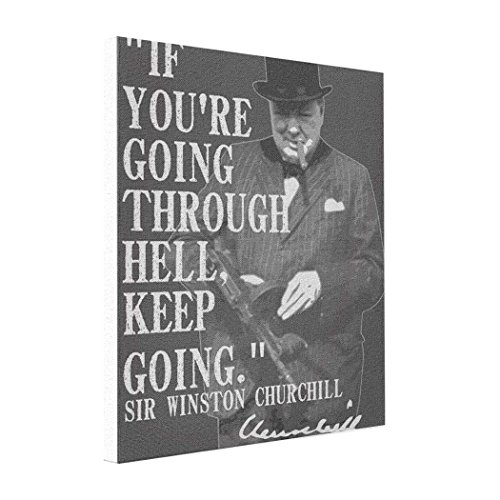 Eryoubs Cheap Art Canvas If you're going through hell keep going. Canvas Pop