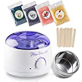 Hair  Removal Wax Warmer Electric Wax Heater Hard Wax Kit with Wax Beads and Wax Applicator Sticks and Rapid Melt Wax Home Waxing Kit Wax for Women and Men