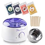 #3: Hair Removal Wax Warmer Electric Wax Heater Hard Wax Kit with Wax Beads and Wax Applicator Sticks and Rapid Melt Wax Home Waxing Kit Wax for Women and Men