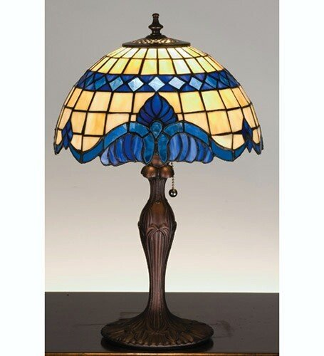 Meyda Tiffany 31201 Tiffany Glass Baroque & Gypsy Stained Glass / Tiffany Accent Table Lamp from (Baroque Stained Glass Table Lamp)