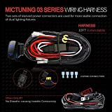 MICTUNING LED Light Bar Wiring Harness Fuse 40A