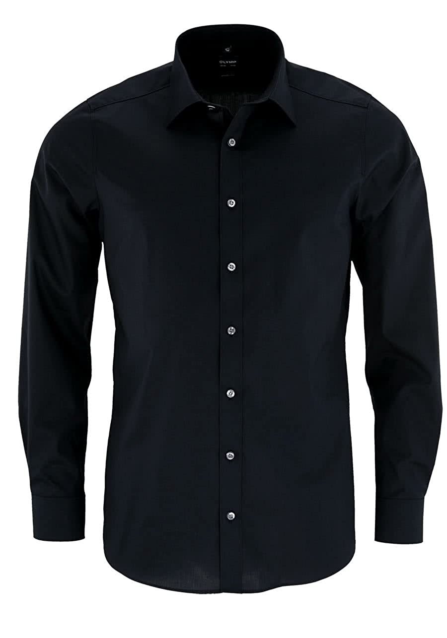 Olymp Level 5 Body Fit - Camisa para hombre con mangas extralargas