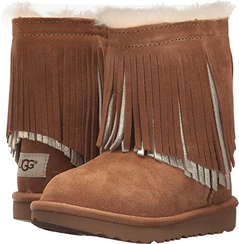 UGG Little Kids Classic Short II Fringe Boot Chestnut Size 11 Little Kid M (Chestnut Ugg Kids Classic)