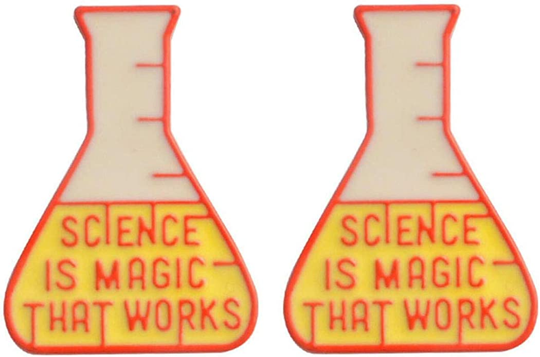 Science Experiment Cup Brooch Science is Magic Enamel Lapel Pin Jewelry Gift