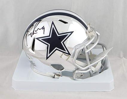 ce459b953d4 Image Unavailable. Image not available for. Color: Tony Romo Autographed  Dallas Cowboys Chrome Mini Helmet ...