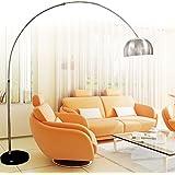 Chrome Arc Floor Lamp Standard Lighting Floor Lamp With Black Marble Base