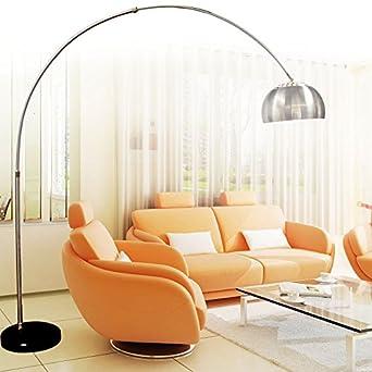 chrome arc floor lamp standard lighting floor lamp with black marble base energy class a