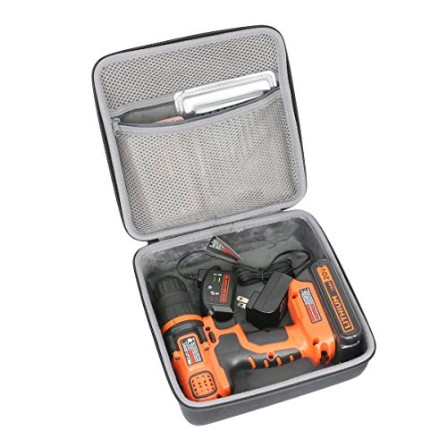 Hard Travel Case for BLACK+DECKER LDX120C 20-Volt MAX Lithium-Ion Cordless Drill Driver by co2CREA