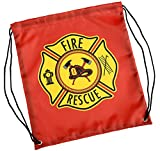 Aeromax Firefighter Drawstring Backpack, Red