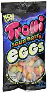 Trolli Sour Brite Eggs Gummy Candy, 4 Ounce Bag, Pack of 12