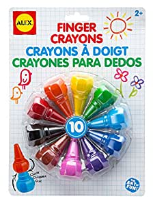 ALEX Toys Artist Studio 10 Finger Crayons