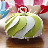 House of Quirk Lotus Folding Non Scratch Steamer Basket Kitchen Cooking Tool (Green)