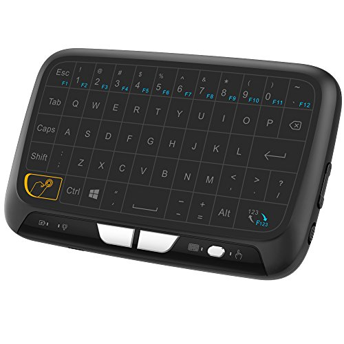 Ronxs 2.4GHz Mini Wireless Keyboard and Touchpad Mouse Combos, Rechargeable Remote Control with Virtual Keys for Google Android TV Box, HTPC, IPTV, PC, PS3, Xbox 360, Pad and More