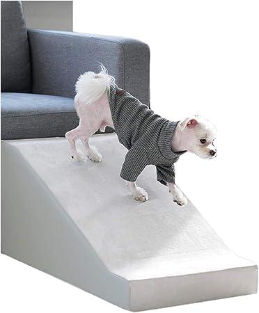 Rampa Azul para Perros pequeños para Cama Alta y sofá, escaleras Ligeras para Mascotas de 3