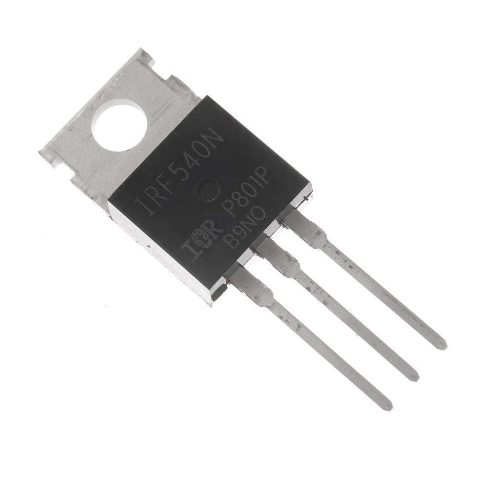 N-Channel MOSFET Major Brands IRF540 Transistor 100 V Pack of 5
