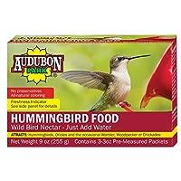 El polvo de néctar de alimentos para colibrí Audubon Park 1661, contiene (3) paquetes de 3 onzas