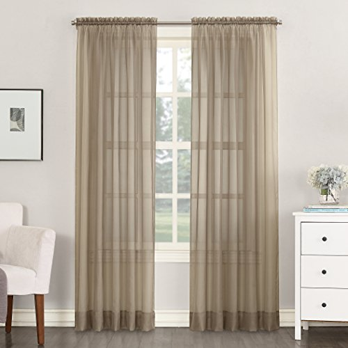 No. 918 Emily 59 by 84-Inch Sheer Voile Curtain Panel, (Regal Nine Light Chandelier)