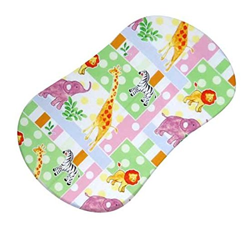 SheetWorld Fitted Bassinet Sheet (Fits Halo Bassinet Swivel Sleeper) - Jungle Animals & Dots - Made In USA by SHEETWORLD.COM