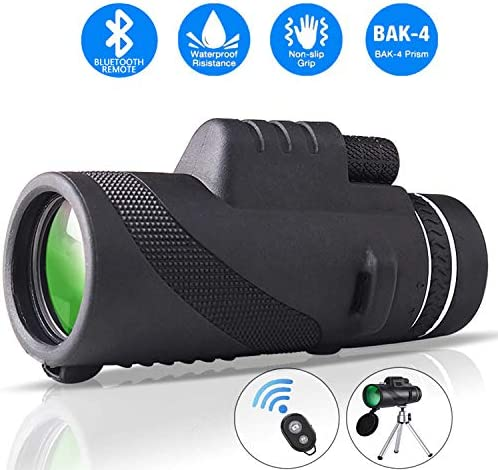 Monocular Telescope 12X50 High Power HD Monoculars - Clear BAK4 Prism -and Quick Smartphone Holder -for Bird Watching Hunting Camping Travelling Wildlife Secenery