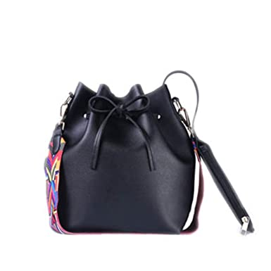 a6c8f2abb1bc Women Bag With Colorful Strap Bucket Bag Women PU Leather Shoulder Bags  Brand Designer Ladies Crossbody