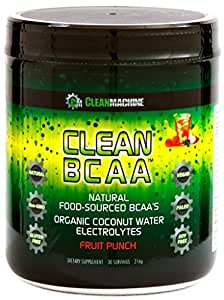 Clean Machine BCAA Fruit Punch Powder, 30 Count