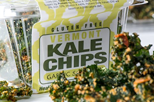Vermont Kale Chips Organic Raw Healthy Snack - Garlic Scallion - 1 oz (Pack of 6) (Dehydrated Scallions compare prices)