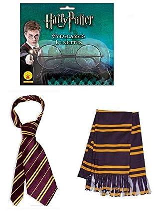 Harry Potter corbata bufanda y gafas disfraz Kit de accesorios ...
