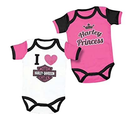 Amazon.com: Harley-Davidson Baby ' Princess Creeper Set, 2Pk ...