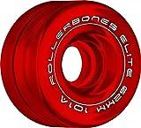 RollerBones Art Elite Competition 101a Roller Skate Wheels - Red - 62mm