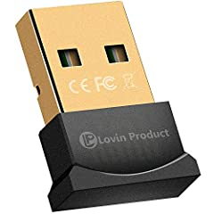 Bluetooth 4.0 USB Adapter Gold Plated Micro Dongle for Smart & Wirelss Life If you have many Bluetooth devices and you want to connect them to your computer, but don't have a Bluetooth-enabled computer,don't worry! Our Bluetooth Adapter w...