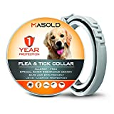 MASOLD Dog Flea and Tick Control Collar - 12 Months Flea and Tick...