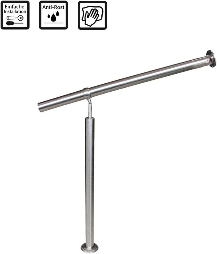 80x90cm FROADP Rampe dentr/ée Main Courante en Acier avec anneau inclin/é et r/églable pour une utilisation en int/érieur et en ext/érieur