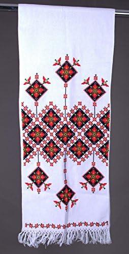 "NEW Embroidered Towel ~RUSHNYK~ Ukraine ~ 51/"" ~ 100/% Cotton"