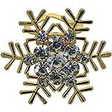CHINCERICHEE couleur or flocon de neige cristal écharpe clip / broche