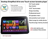 Desktop Touch Screen All-In-One Karaoke Player Free Cloud download 4000G HDD 87,000 Songs Chinese+ English Select Songs Both Via Touch Screen And Mobile Device