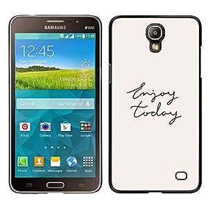 Caucho caso de Shell duro de la cubierta de accesorios de protección BY RAYDREAMMM - Samsung Galaxy Mega 2 - Disfrute Hoy Cursive Mano Texto Escrito
