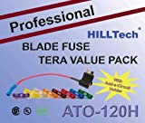US Grade w/Add-A-Circut Holder 120 PCS Professional ATO Blade Car Truck Fuses Assortment ATO-120H Fuse Kit Set Assorted 3A, 5A, 7.5A, 10A, 15A, 20A , 25A, 30A