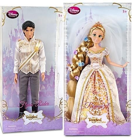 Tangled Ever After Rapunzel / Flynn Rider Doll -- 12'' H