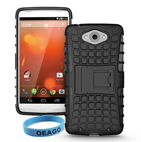 Motorola Moto Droid Turbo Case Cover for Moto Droid Turbo XT1254 with 1 Stylus Pen + 1 Sports wrist band + 1 OEAGO Cleaning Cloth (for Moto Droid Turbo, Black) (NOT Compatible with Ballistic Nylon Version)