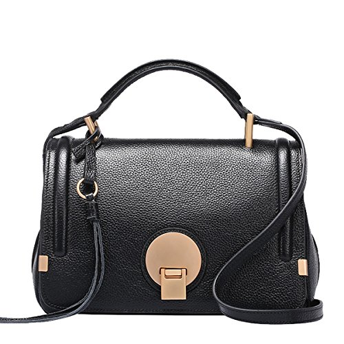 Soft Pockets Women Handbags Bag Black Multiple Leather Shoulder Q0748 Dissa wqX5OPxEn